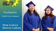 Elisa Cultura & Monica Cultura - Healthcare Assistant Graduates - Drake Medox College