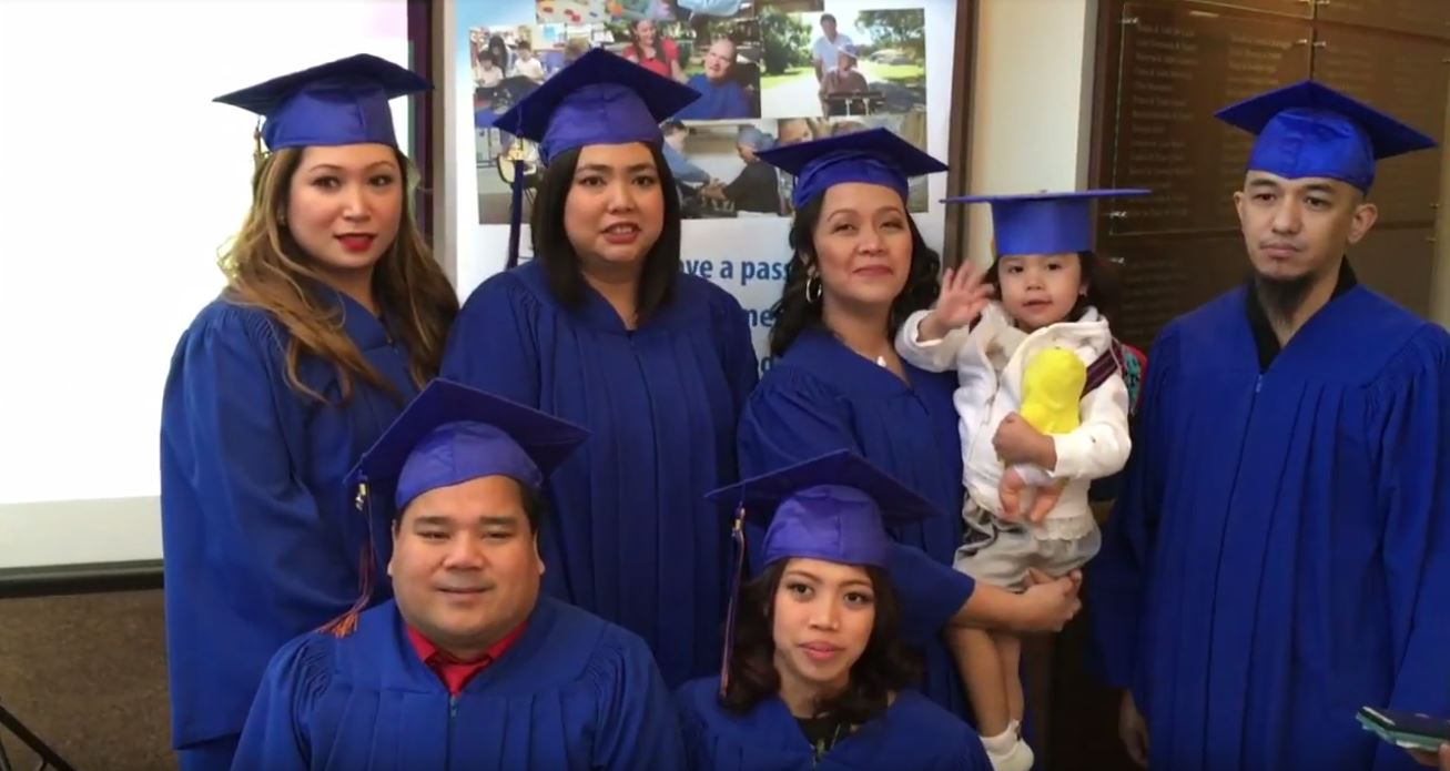 Aiko, Marla, Rosalina, Michael, Wally, Sheila - Community Service Worker Graduates, Drake Medox College