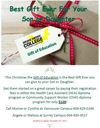 gift of education for christmas