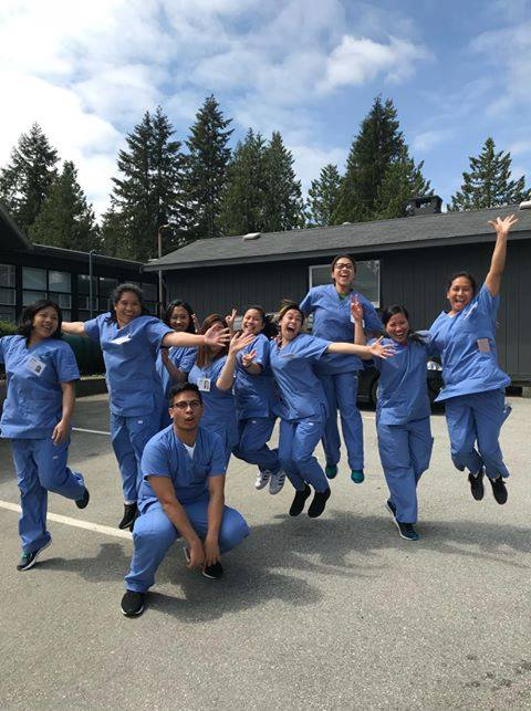 Vancouver HCA students clearly enjoying their practicum!
