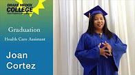 Joan Cortez - Healthcare Assistant Graduate, Drake Medox College