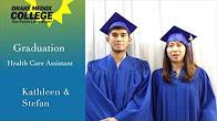 Kathleen Aban & Stefan Craig Aban - Healthcare Assistant Graduates, Drake Medox College