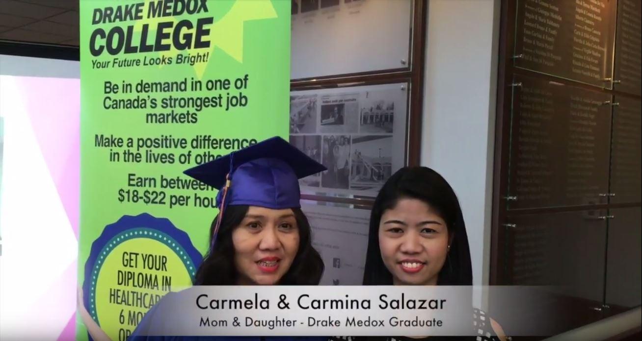 Carmela & Carmina Salazar  -  Healthcare Assistant Graduate, Drake Medox College