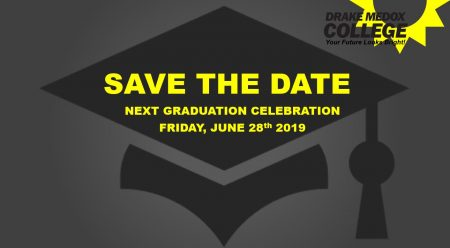 save the date for graduation in Drake Medox College