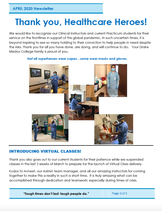new healthcare assistant instructor