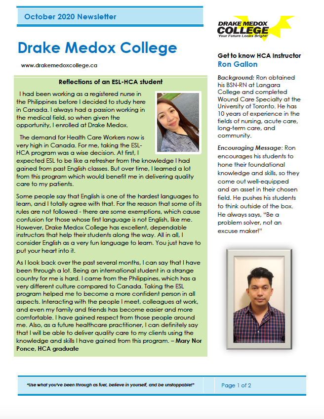 drake medox newsletter april 2020